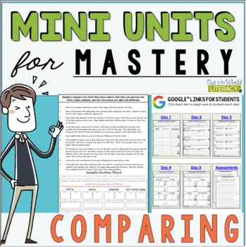 Mini Comprehension Units for Mastery- Comparing