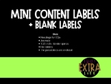 Mini Content Labels