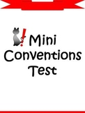 Mini Conventions Test - Spelling, Capitalization, & Punctuation