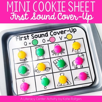 Mini Cookie Sheet Activity: First Sound Cover-Up