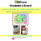Mini Core Vocabulary Board for Autism, Special Education,