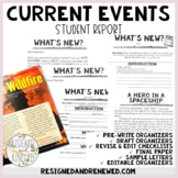 Mini Current Events Writing and/or Video Project