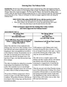 Progressive Movement: The Pullman Strike - Detecting Bias Mini DBQ
