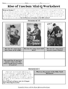 Mini-DBQ Worksheet: Rise of Fascism