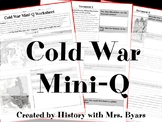 Mini-DBQ Worksheet: The Cold War