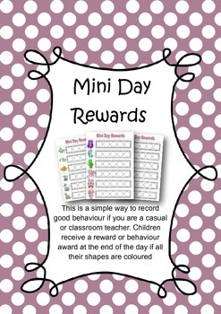Mini Day Rewards Chart