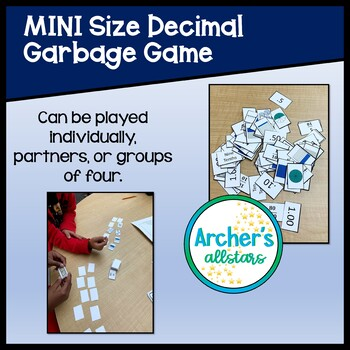 Mini Decimal Sequencing Card Game with Concrete Models