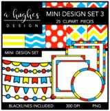 Mini Design Clipart Set: 3 {A Hughes Design}