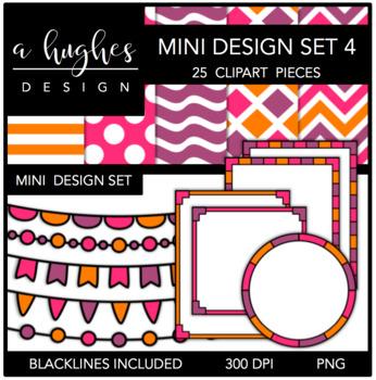 Mini Design Clipart Set: 4 {A Hughes Design}