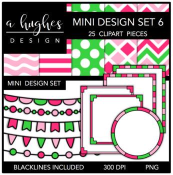 Mini Design Clipart Set: 6 {A Hughes Design}