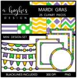 Mini Design Clipart Set: Mardi Gras {A Hughes Design}