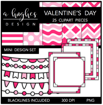 Mini Design Set Valentine's Day {Graphics for Commercial Use}