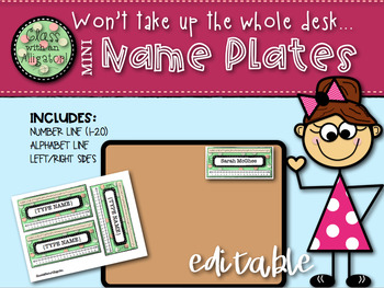 Mini Desk Name Plates