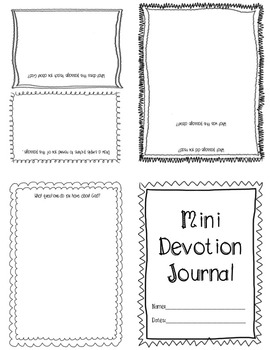 Mini Devotion Journal