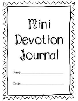Mini Devotion Journal