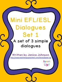 Mini Dialogues Set 1 {EFL, ESL, italki}