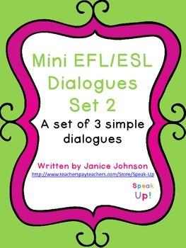 Mini Dialogues Set 2 {EFL, ESL, italki}
