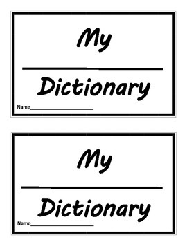 Mini Dictionary Blank