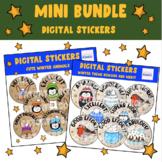 Mini Digital Teacher Bundle Cute Winter Digital Stickers F