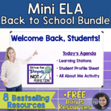ELA Back to School Bundle for Middle School