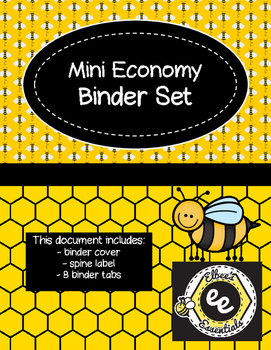 Mini Economy Binder - Bee Themed
