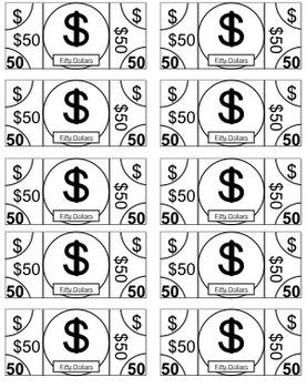 Mini Economy Classroom Money Templates