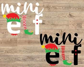 Mini Elf svg Christmas svg Mom svg santa Christmas baby santa hat svg 1112S