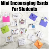 Mini Encouraging Cards for Students | An Editable Document