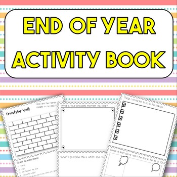 End of Year Activity Book