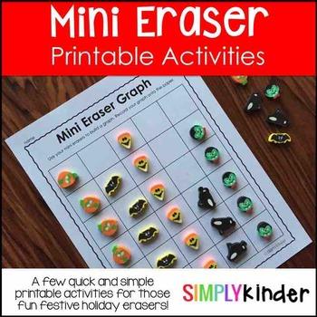 Mini Eraser Activities