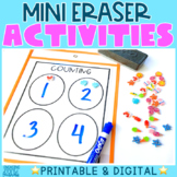 Mini Eraser Activities Pack | Printable and Interactive Option