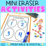 Mini Eraser Activities Pack | Printable & Interactive Opti
