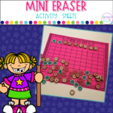 Mini Eraser Activity Sheets  Math and Spelling