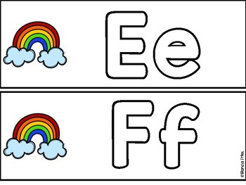 Mini Eraser Activity - Letter and Sight Word Practice - Rainbow Themed