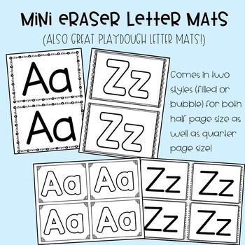 Mini Eraser Alphabet/Letter Mats
