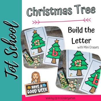 Mini Eraser-Build the Letter-Christmas Trees