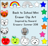 Mini Eraser Clip Art: Dogs, Cats, Apples, Rainbows, and Stars