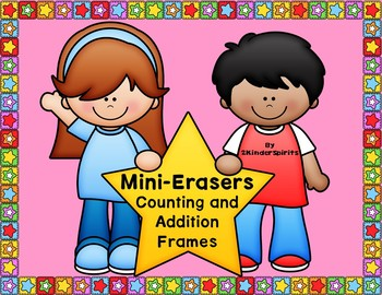 Mini-Eraser Counting and Addition Frames