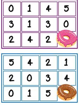 Mini Eraser-Donut Addition Bingo