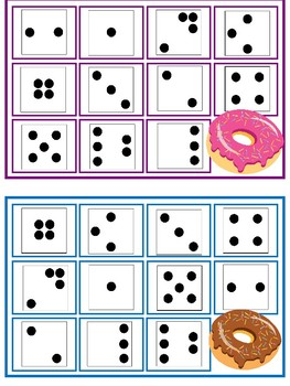 Mini Eraser-Donut Dot Card Bingo (0-5)