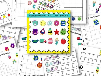 Mini Eraser Math Activities Bundle