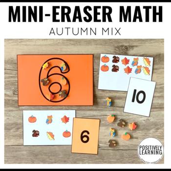 Mini Eraser Math Autumn