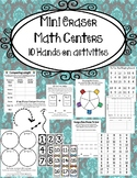Mini Eraser Math Centers- 10 Hands on Learning Activities