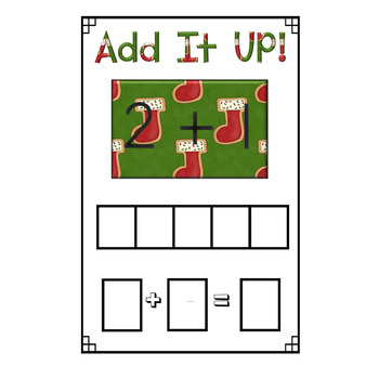 Mini Eraser Math - Christmas (Add, Subtract, Count, Compose, Decompose, etc.)