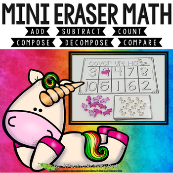 Mini Eraser Math Endless Bundle (Add, Subtract, Count, Compose, Decompose)