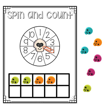 Mini Eraser Math - Halloween (Add, Subtract, Count, Compose, Decompose, etc.)