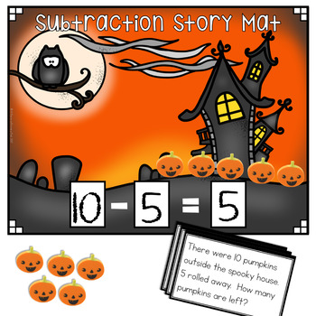 Mini Eraser Math - Halloween (Add, Subtract, Count, Compose, Decompose, etc.)