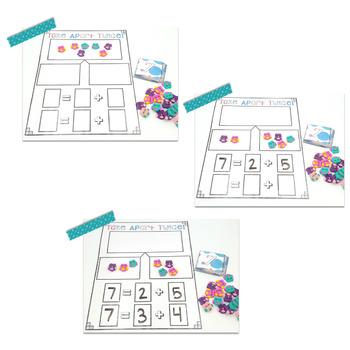 Mini Eraser Math - Owls (Add, Subtract, Count, Compose, Decompose, etc.)
