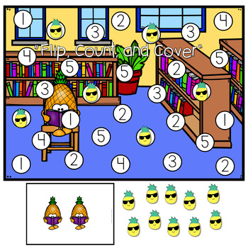 Mini Eraser Math - Pineapples (Add, Subtract, Count, Compose, Decompose, etc.)