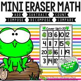 Mini Eraser Math - Spring Frogs Add, Subtract, Count, Compose, Decompose, etc.